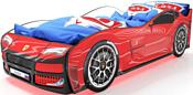 КарлСон Турбо 160x70 (с ПМ, красный)