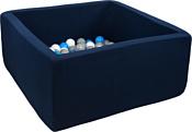Misioo 90x90x40 200 шаров (темно-синий)