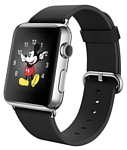 Apple Watch 42mm Stainless Steel with Black Classic Buckle (MJ3X2)
