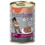 Nutrilove (0.4 кг) 1 шт. Cats - Delicious pate - Duck menu