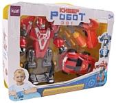 Kari Кибер-робот 3 в 1 80700540 Робот и машина (красный)
