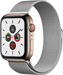 Apple Watch Series 5 44mm GPS + Cellular Stainless Steel Case with Milanese Loop