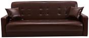 Луховицкая Мебельная Фабрика Аккорд книжка (тёмно-коричневый с бежевой отстрочкой)
