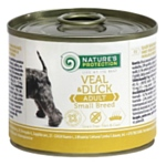 Nature's Protection Консервы Dog Adult Small Breed Veal & Duck (0.2 кг) 1 шт.