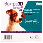 Вектра 3D (СЕВА) Капли для собак весом 4–10 кг