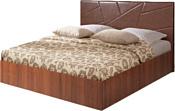 МебельПарк Аврора 7 200x140 (с подъемным механизмом, коричневый)