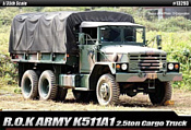 Academy R.O.K. Army K511A1 2.5ton Cargo Truck 1/35 13293