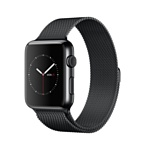 Apple Watch 42mm Space Black with Space Black Milanese Loop (MMG22)