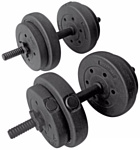 Pro fitness Vinyl Dumbbell Set - 15kg