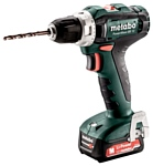 Metabo PowerMaxx BS 12 2.0Ач х2 кейс