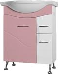 Ювента Франческа 3-65 тумба под умывальник розовая