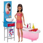 Barbie Doll & Bathroom Playset DVX53