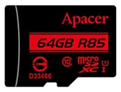 Apacer microSDXC Card Class 10 UHS-I U1 (R85 MB/s) 64GB