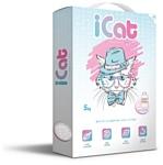 iCat белый с ароматом детской присыпки 5кг
