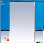 Misty Зеркальный шкаф Жасмин - 75 (голубой)
