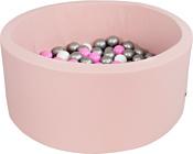 Misioo 90x30 200 шаров (светло-розовый)