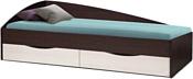 Олмеко Фея-3 190x80 (асимметричная, венге/дуб линдберг)