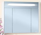 Бриклаер Шкаф с зеркалом Палермо 90 (белый глянец)