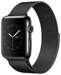 Apple Watch Series 2 42mm Space Black with Milanese Loop (MNQ12)