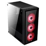 AeroCool Quartz Black/red