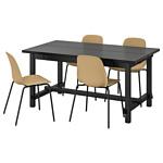 Ikea Нордвикен/Лейф-Арне (черный/брур-инге черный) 593.051.79