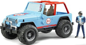 Bruder Jeep Cross country Racer blue 02541