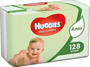 Huggies Ultra Comfort с Алоэ Вера и витамином Е, 128 шт