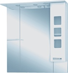 Misty Зеркальный шкаф Квадро - 105 (белый)