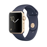 Apple Watch Series 1 38mm Gold with Midnight Blue Sport Band (MQ102)
