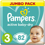 Pampers Active Baby-Dry 3 Midi (6-10 кг), 82 шт