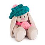Зайка Ми В зеленой кепке и розовом шарфе (23 см)