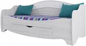 SV-Мебель Акварель 1 200x80 (одинарная, белый матовый/ясень анкор)