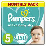 Pampers Active Baby-Dry 5 Junior (11-16 кг) 150 шт