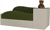 Лига диванов Джуниор 120x61 102198 (микровельвет, зеленый/бежевый)