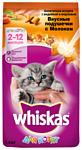Whiskas (1.9 кг) Вкусные подушечки с молоком. Аппетитное ассорти с индейкой и морковью для котят