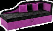 Mebelico Дюна 59397 (вельвет, черный/фиолетовый)