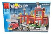 Enlighten Brick Пожарные 910 Пожарная часть