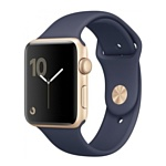 Apple Watch Series 2 38mm Gold with Midnight Blue Sport Band (MQ132)