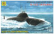 """Моделист Атомная подводная лодка К-123 """"Альфа"""" 140054"""