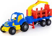 Полесье Крепыш трактор с полуприцепом-лесовозом 44815