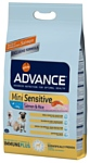 Advance (7.5 кг) Mini Sensitive лосось и рис