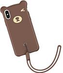 Baseus Bear Silicone для iPhone XS Max (коричневый)