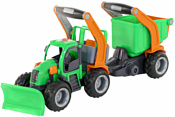 Полесье ГрипТрак трактор снегоуборочный с полуприцепом 48400