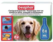 Beaphar Caniguard Spot On для собак крупных пород (6 пипеток)