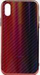 EXPERTS AURORA GLASS CASE для iPhone X/XS с LOGO (красно-синий)