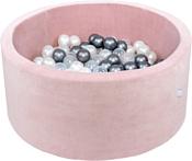 Misioo 90x40 200 шаров (светло-розовый вельвет)