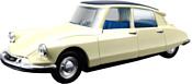 Bburago Citroen DS19 1955 18-43204 (бежевый)