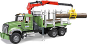 Bruder MACK Granite Timber truck with 3 trunks 02824