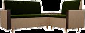 Mebelico Модерн 61163 (правый, зеленый/бежевый)