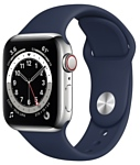 Apple Watch Series 6 GPS + Cellular 40mm Stainless Steel Case with Sport Band